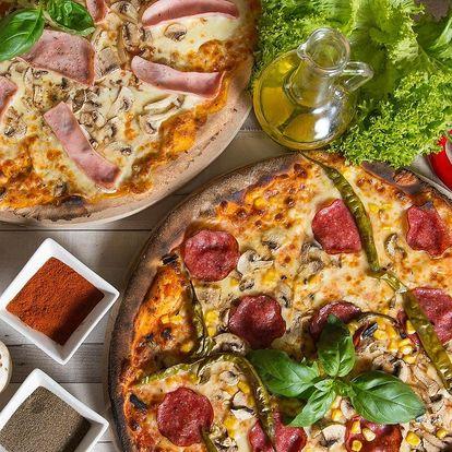 2 pizzy dle výběru s rozvozem po Přerově