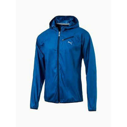 Bunda Puma Core-Run Hooded Jkt Modrá