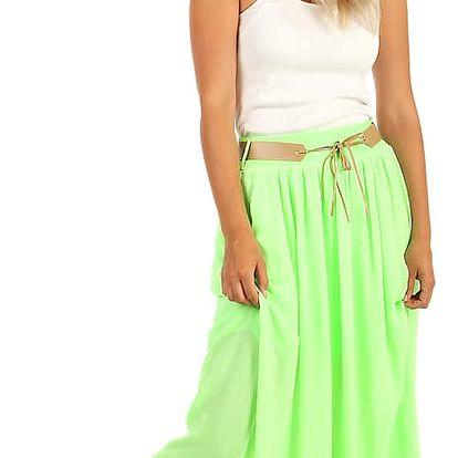 Dlouhá sukně v neonových barvách neon zelená