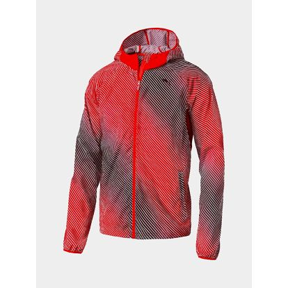 Bunda Puma Packable Woven Jacket Red Blast-AOP Červená