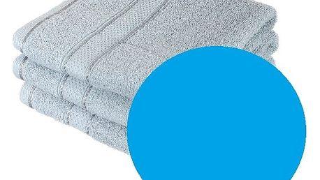 Froté ručník se vzorem Menheten světle modrá