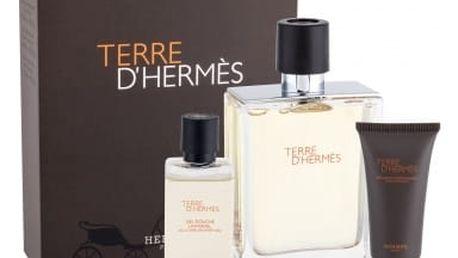 Hermes Terre D´Hermes dárková kazeta pro muže toaletní voda 100 ml + sprchový gel 40 ml + balzám po holení 15 ml
