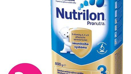 3x NUTRILON 3 ProNutra (800g) - kojenecké mléko