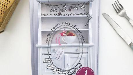 Láska prochází kuchyní - Denisa Bartošová, šedá barva, papír