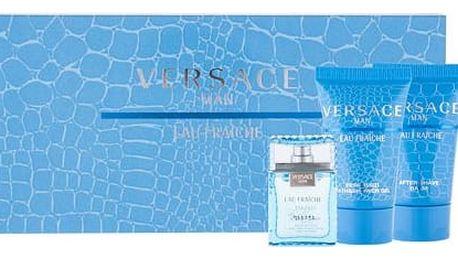 Versace Man Eau Fraiche EDT dárková sada M - EDT 5 ml + sprchový gel 25 ml + balzám po holení 25 ml