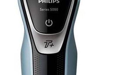 Holicí strojek Philips AquaTouch S5530/06 černý/modrý Balzám po holení Nivea Sensitive (zdarma) + Doprava zdarma