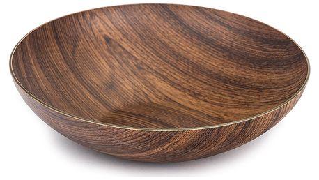 Evelin Miska Buffet 31x31x8cm plast dekor dřevo