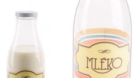 Designová sklenice na mléko 1 l