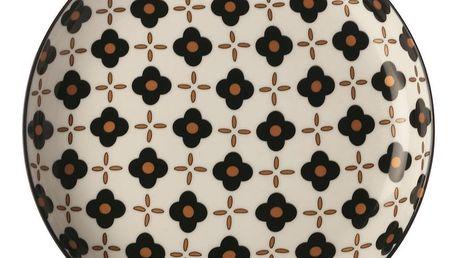 Maxwell&Williams Dezertní talíř Marigold Black Flower 18,5 cm