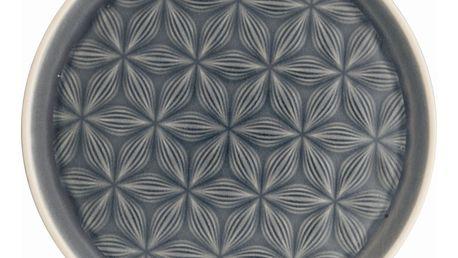 GREEN GATE Dezertní talř Kallia grey, šedá barva, keramika