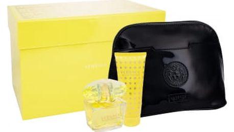 Versace Yellow Diamond dárková kazeta pro ženy toaletní vodda 90 ml + tělové mléko 100 ml + kosmetická taška