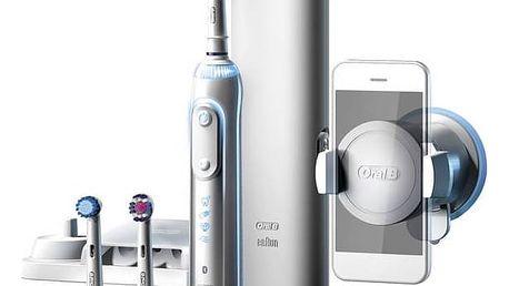 Zubní kartáček Oral-B Genius PRO 8000 bílý Ústní sprcha Oral-B Oxyjet MD20 (zdarma) + Doprava zdarma
