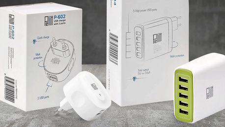 USB nabíječky domů i do automobilu Pelitt