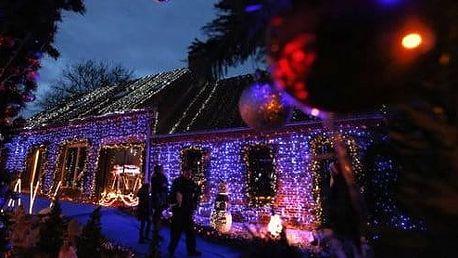 Led vánoční osvětlení venkovní 50 m