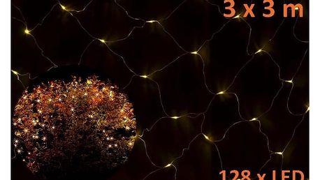 Síť 3 x3 m - 128 LED - teplá bílá - 18000123