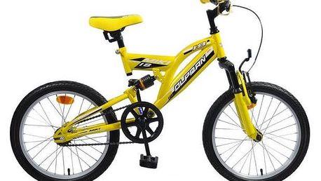 """Dětské kolo Olpran Miki 18"""" žluté + Reflexní sada 2 SportTeam (pásek, přívěsek, samolepky) - zelené v hodnotě 58 Kč + Doprava zdarma"""