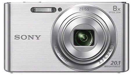 Digitální fotoaparát Sony DSC-W830S stříbrný + DOPRAVA ZDARMA