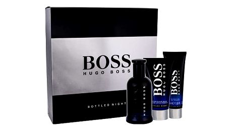 HUGO BOSS Boss Bottled Night EDT dárková sada M - EDT 100 ml + balzám po holení 75 ml + sprchový gel 50 ml