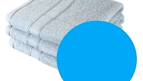 Froté osuška se vzorem Menheten světle modrá