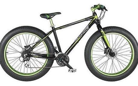 """Fat Bike Coppi 2016 King, vel. 26"""" černé/zelené + Reflexní sada 2 SportTeam (pásek, přívěsek, samolepky) - zelené v hodnotě 58 Kč + Doprava zdarma"""