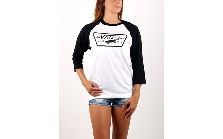 Tričko Vans M FULL PATCH RAGLAN White/Black Bílá