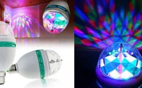 Rotující LED disco žárovka