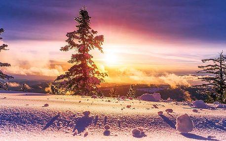 Zimní Jeseníky s rodinou nebo romanticky u největšího skiareálu Karlov + polopenze a sauna