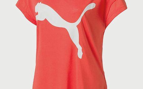 Tričko Puma Urban Sports Trend Tee W Hot Coral Červená
