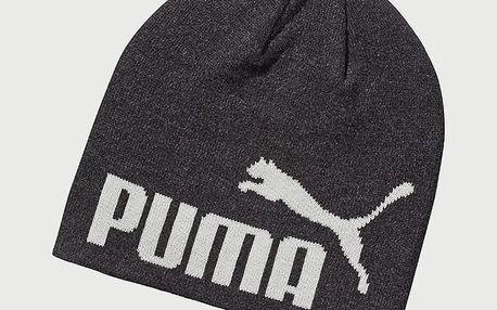 Čepice Puma Ess Big Cat Beanie Dark Gray Heather-No Černá