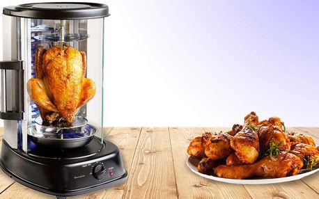 Vertikální gril na kuřátko s křupavou kůrčičkou