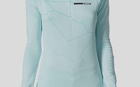 Tričko adidas Performance W TX ICESKY LS2 Modrá