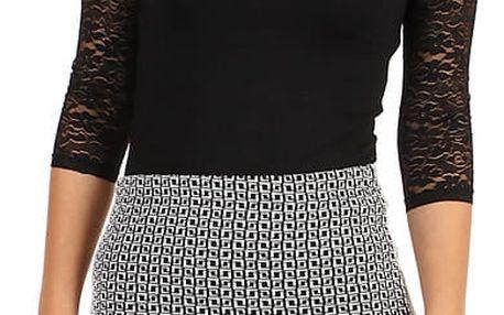 Pouzdrová sukně s jemným vzorem - i pro plnoštíhlé