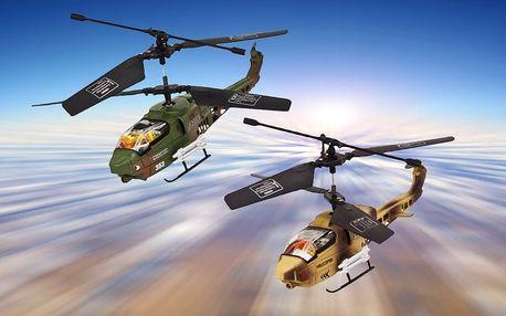 Dva soubojové vrtulníky na dálkové ovládání