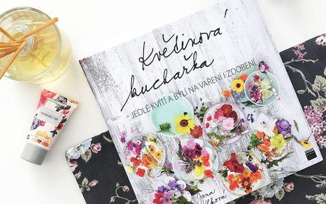 Květinová kuchařka - Jana Vlková, šedá barva, papír