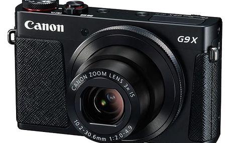 Digitální fotoaparát Canon PowerShot G9 X černý + DOPRAVA ZDARMA
