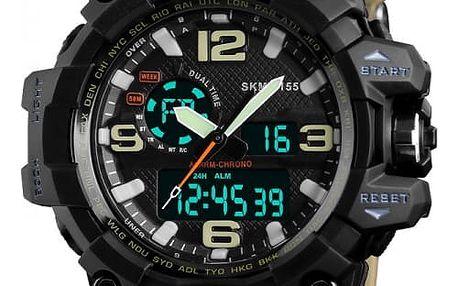 Digitální hodinky s kompasem - 5 barev