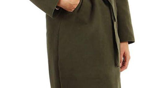Podzimní kabátek s kapucí zelená