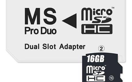 Čtečka paměťových karet Connect IT CI-1138, MS Pro Duo - 2x MicroSDHC (CI-1138)