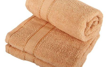 Froté ručník se vzorem Menheten světle hnědá