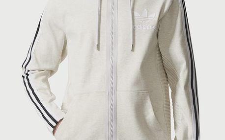 Mikina adidas Originals CURATED Q3 FZ Bílá