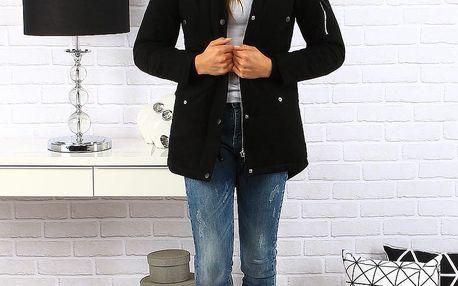 Černá dámská zimní bunda parka (ty0153) Barva: Černá, Velikost: XL