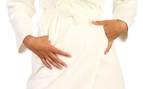 Dlouhý kabát - kardigan s páskem bílá