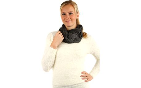 Pletená šála s třásněmi šedá