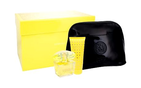 Versace Yellow Diamond dárková kazeta pro ženy toaletní voda 90 ml + tělové mléko 100 ml + kosmetická taška