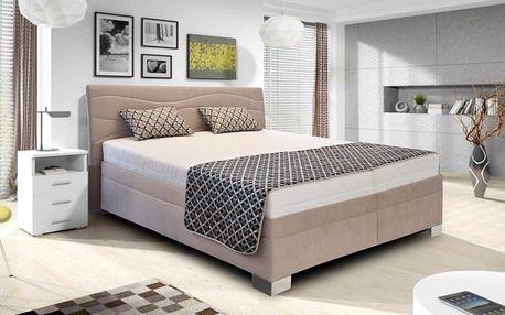Windsor - 200x180, výklopné rošty, matrace (amore 25 beige)