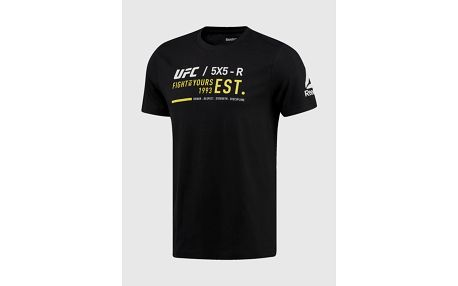 Tričko Reebok UFC FG COTTON SS TEE Černá