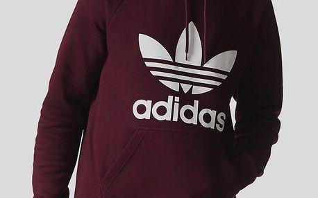 Mikina adidas Originals TREFOIL HOODY Červená