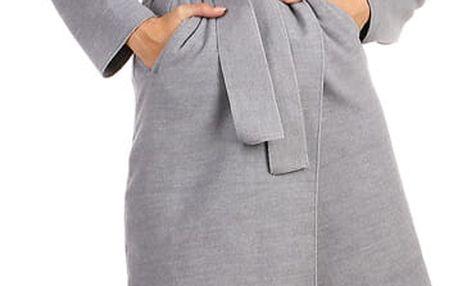 Dámský fleecový kabátek s kapucí šedá