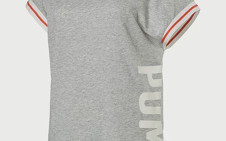 Tričko Puma Athletic Trend Tee W Light Gray Heather Šedá