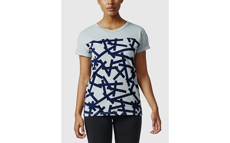 Tričko adidas Performance AOP TEE Modrá